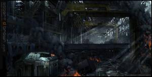 Dystopian warehouse