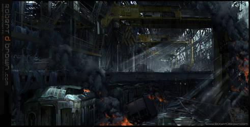 Dystopian warehouse by RobertDBrown