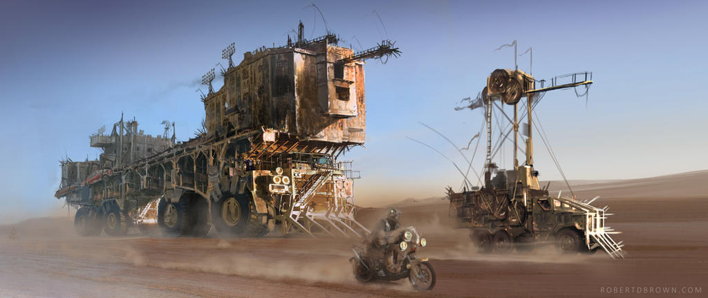 Madmax Prison Barge by RobertDBrown
