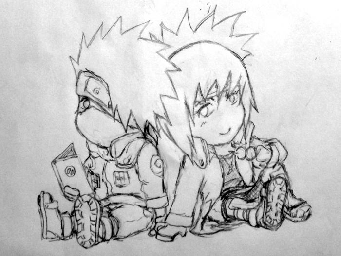 Chibi - Kakashi and Anko by Renkashi