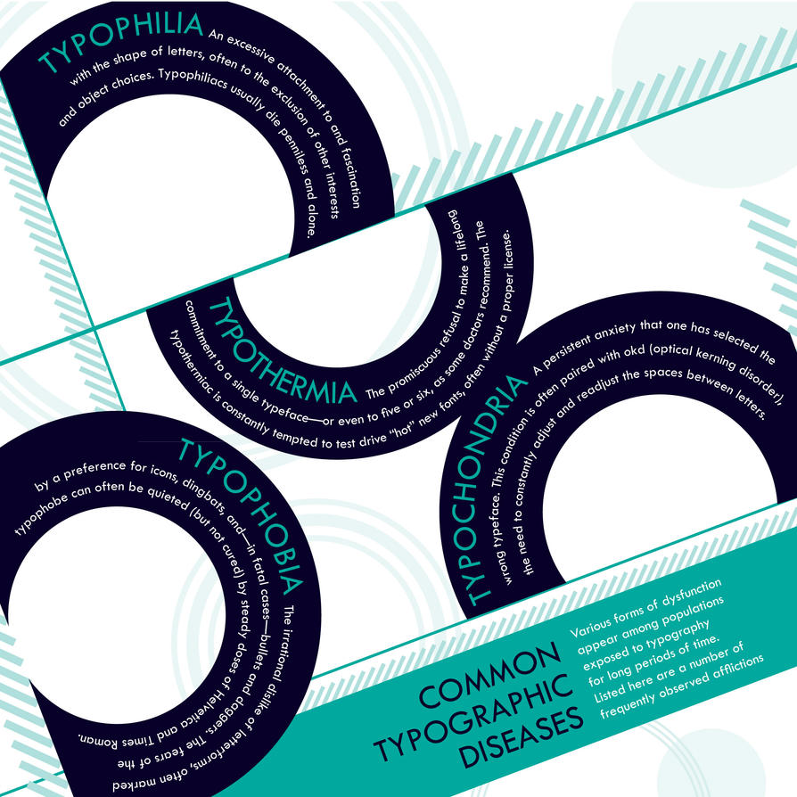 typography diseases 2 by chuckTHEchick