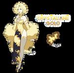 (Comission) Crystalline Gold