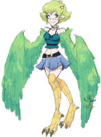 Monster Girl Adopt: Parrot Harpy [CLOSED] by FlareViper