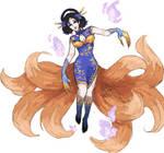 Monster Girl Adopt: Blue Huli Jing [CLOSED]