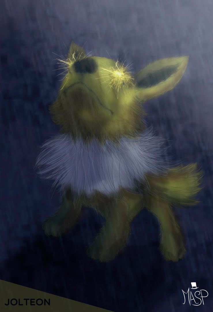 Rainy Jolteon by maspykun