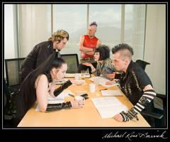 Boardroom Punks Arguing by Atratus