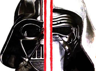 Darth Vader, Kylo Ren by aTmGuy1536