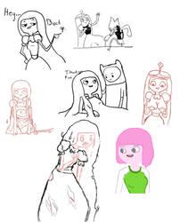 Princess Bubblegum sketch dump by cheeseblade