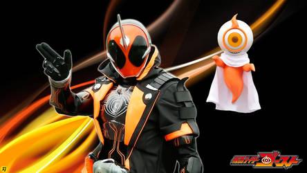Kamen Rider Ghost and Yurusen by Yaiba1
