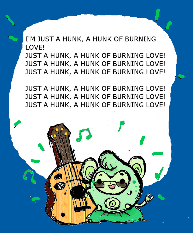 I'M JUST A HUNK, A HUNK OF BABY JUTE by Ask-MusicPrincess3rd