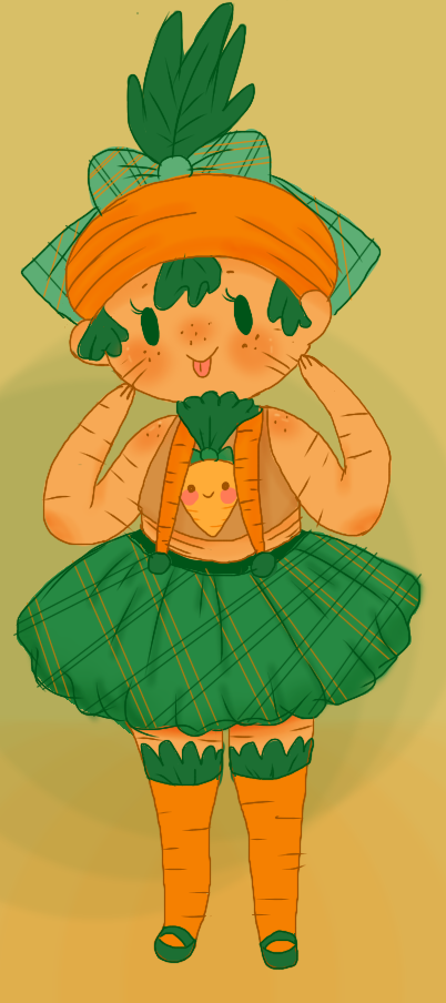 Carrot Girl Adoptable (CLOSED) by Ask-MusicPrincess3rd