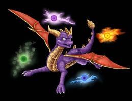 Spyro and The Elements by Wyndbain