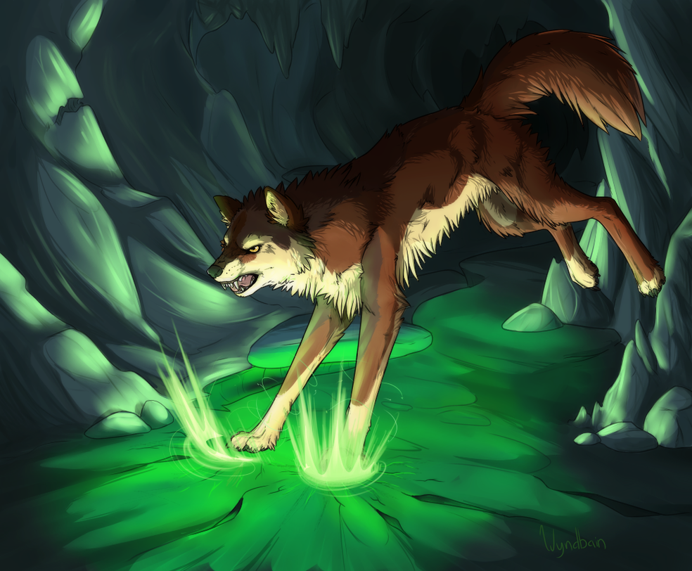 Earth Wolf by Wyndbain