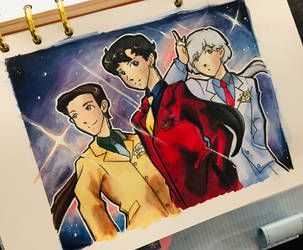Screencap Redraw: Sailor Starlights by dianapocalypse