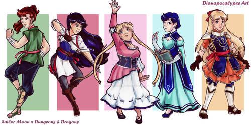 Sailor Moon x Dungeons and Dragons: Inner Senshi