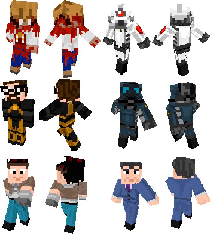 скины персонажей в майнкрафт #1