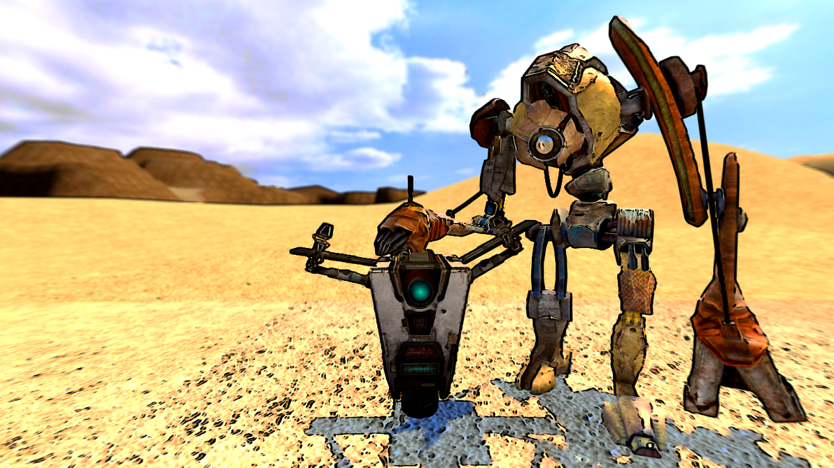 dog and claptrap wallpaper by sethial on deviantart