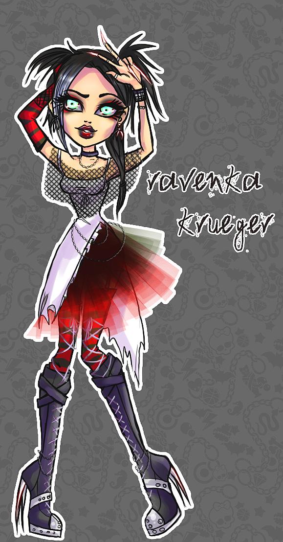 Monster High OC- Ravenka Krueger by RavenNoodle