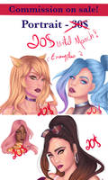 Commission on sale- portrait only 20$ by DancingWithHandsTied