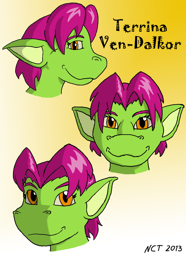 Character Study - Terrina (colored) by Dracosapien