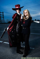 Hellsing's Master and Servant by straywind