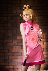 Mario Tennis Princess Peach by straywind