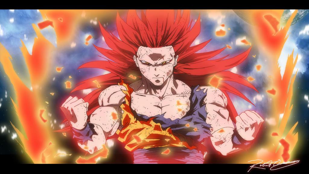 Goku - True Super Saiyan god Form by BIZMedia14 on DeviantArt