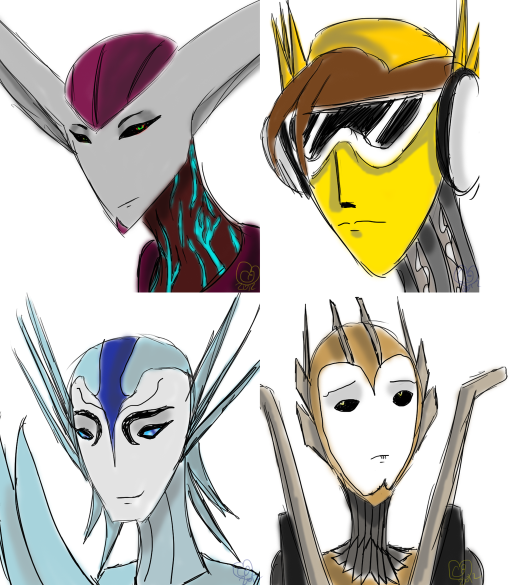 TF: Character bust doodles by ZeeNovos