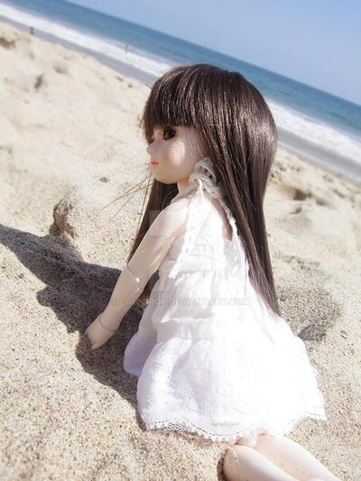 in the beach by loli-drop