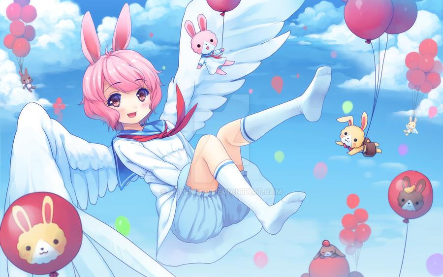 Falling Angel by loli-drop