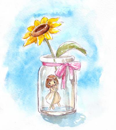 sun flower by loli-drop