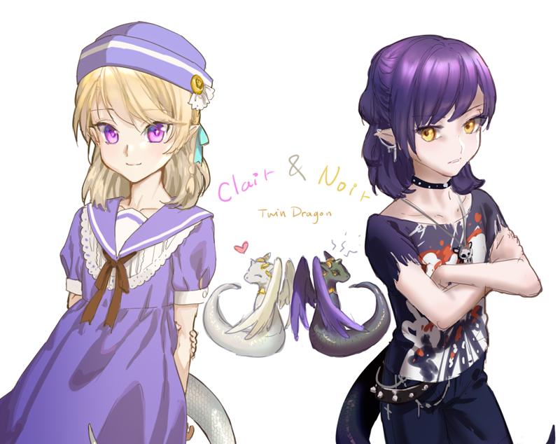 My twin dragon by loli-drop