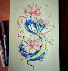 Lotus Dragon by ColdEver