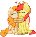 Chibi MLP - Pear Butter and Bright Mac