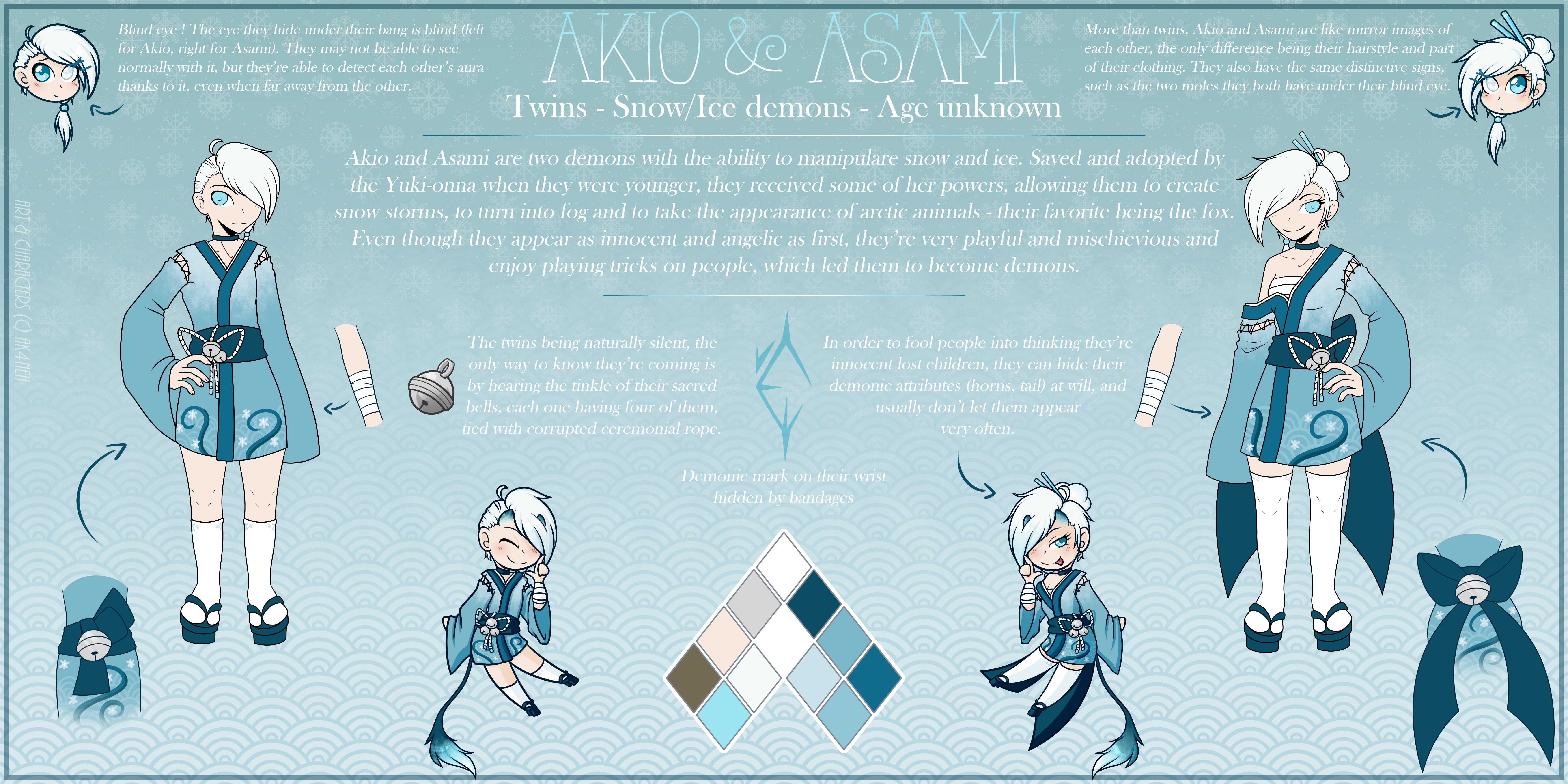 SNOW TWINS - Reference Sheet by Ak4neh on DeviantArt
