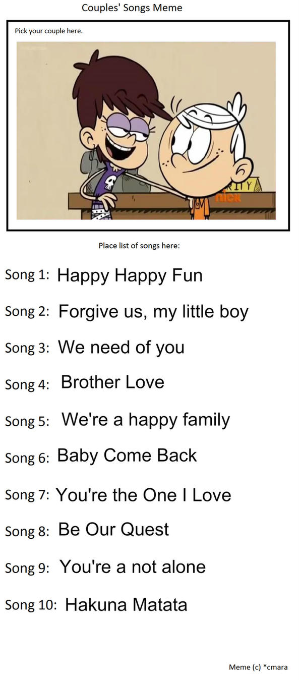 couple_s_songs_meme__lincoln_and_luna_loud_by_bart_toons dbtiri5 couple's songs meme lincoln and luna loud by bart toons on deviantart