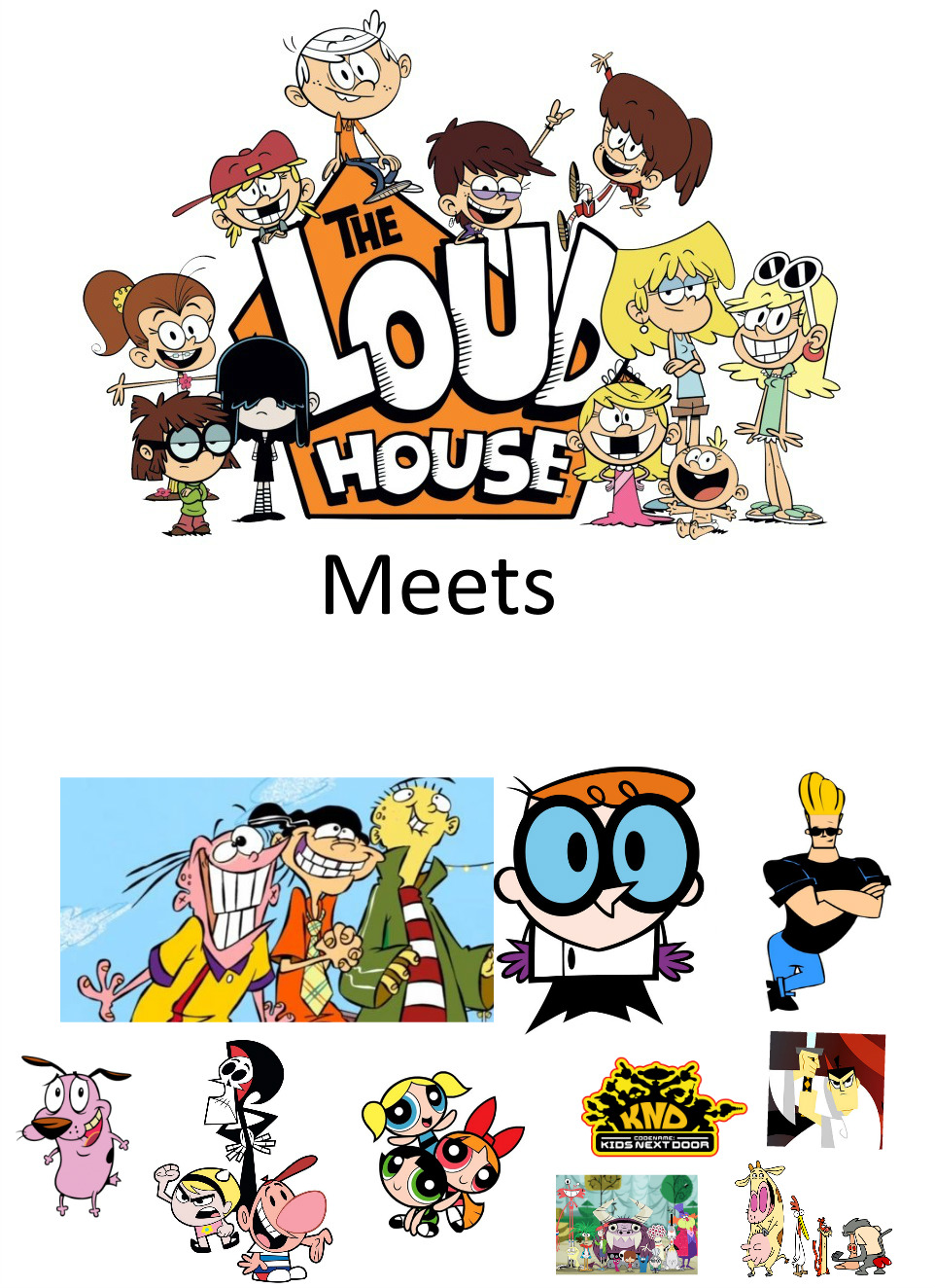 The Loud House Meets Classic Cartoon Network Shows By Bart Toons