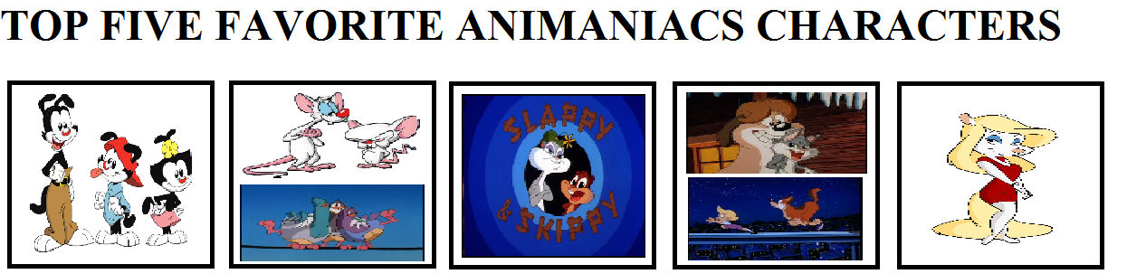 My Top Five Favorite Animaniacs Characters