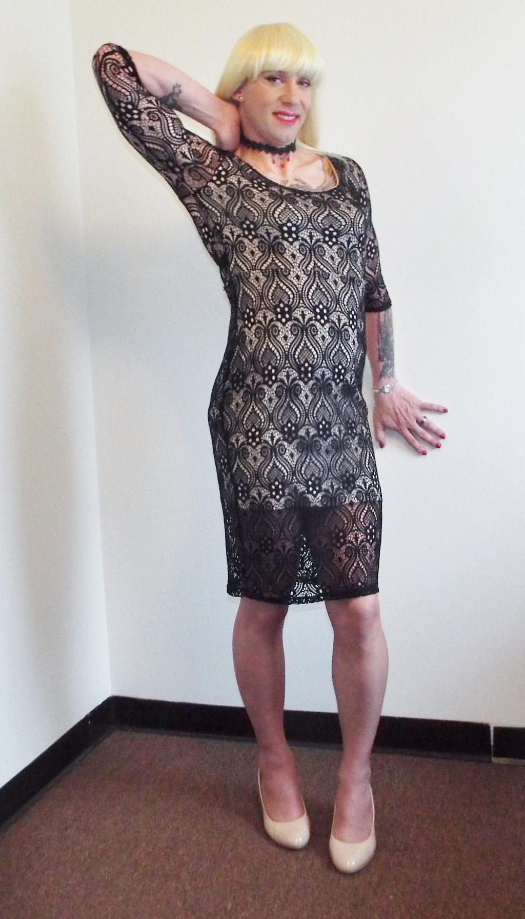 Crossdresser Black Lace Dress By Cowdrake On Deviantart-6051