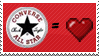 Converse love stamp by emopunkgirl06