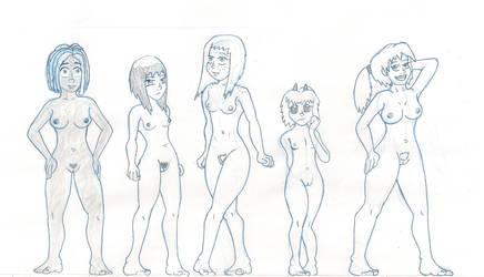 Bikini Squad...sans 'kinis by Uber-Cthulhu