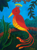 Glowing Bird by Lucyndaria