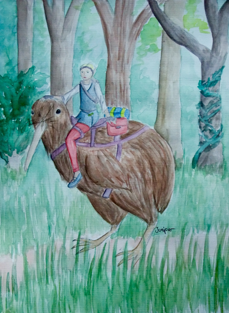 Kiwi Rider by Lucyndaria