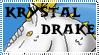 Krystal Dragon Stamp by ObsydianDragon