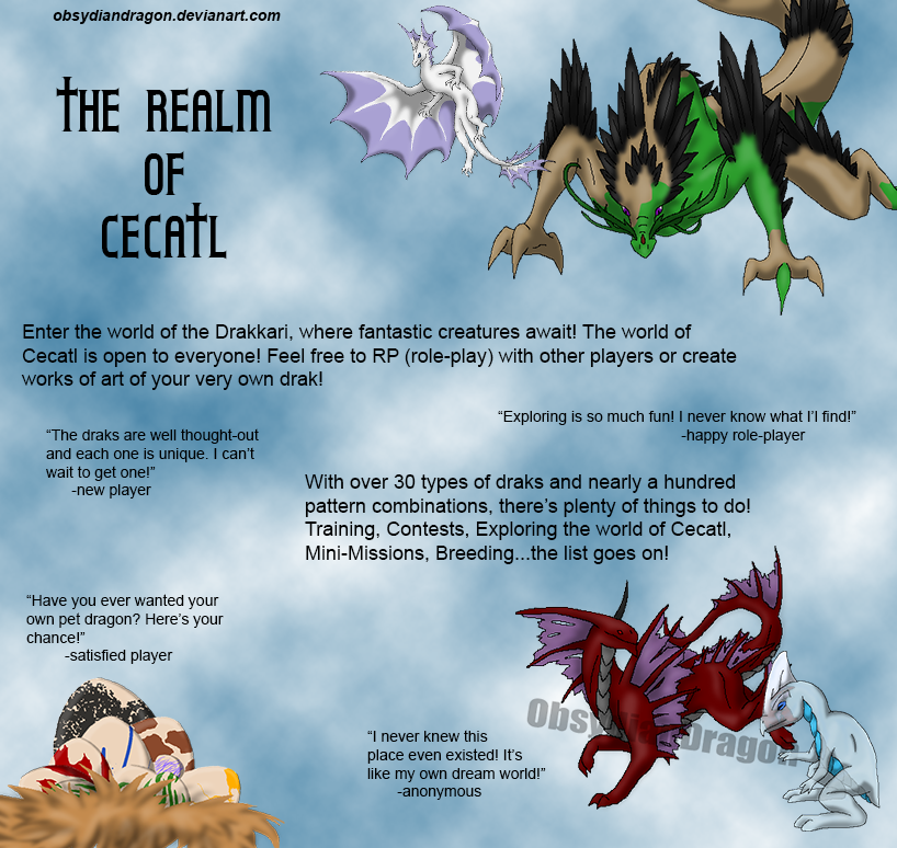 Realm of Cecatl - Drakkari Advertisement by ObsydianDragon
