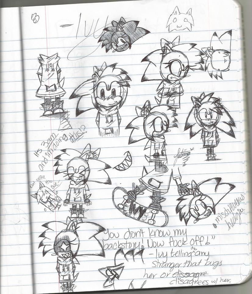 Ivy Sketch Dump by BellaaHedgehog
