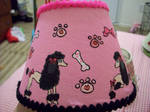 Pink Poodle Lampshade