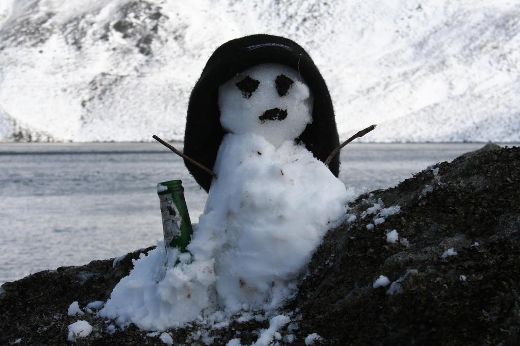 snowman at loch brandy 1