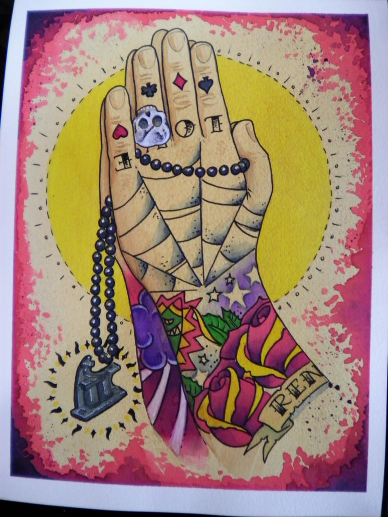 ladies hand tattoo