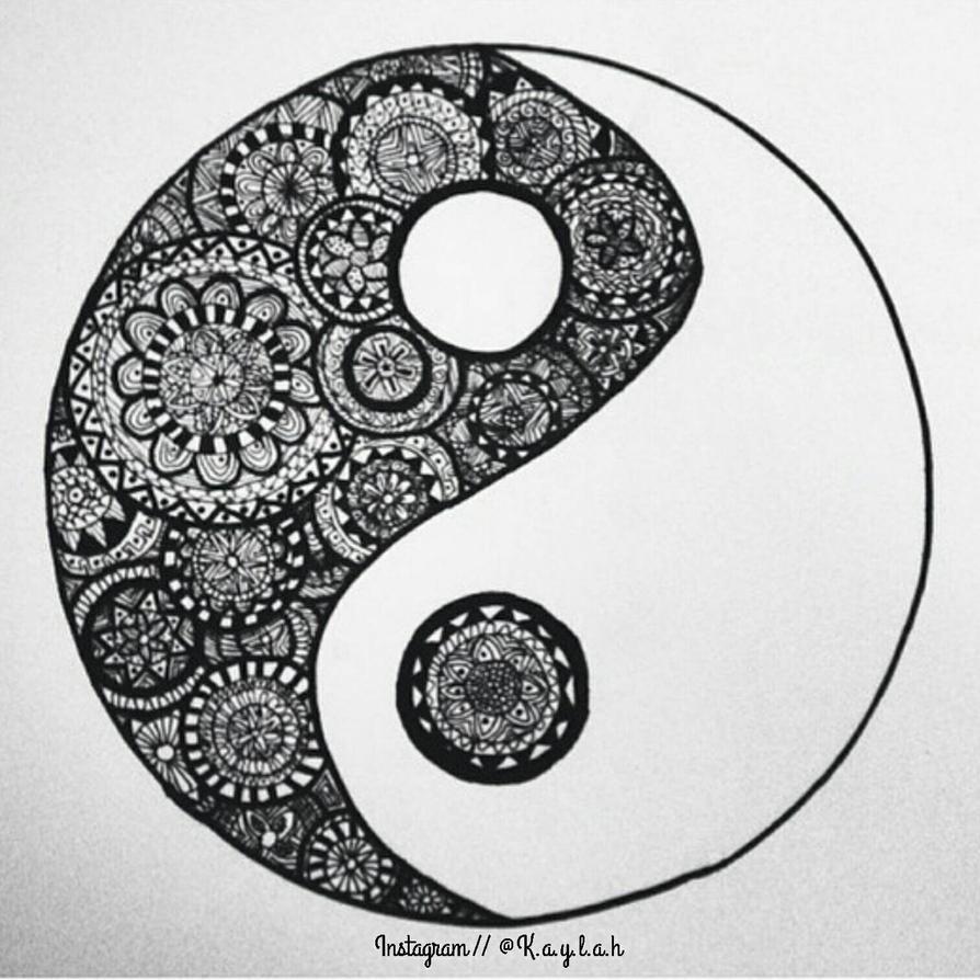 zentangle yin yangmsartisticdreamer on deviantart